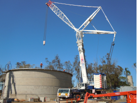 92 tonne Digester roof lift milestone achieved